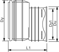 X-Stream DN200 x 150 PP-reduktion, uden gummiringe