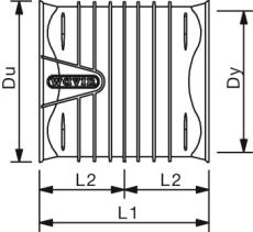 X-Stream DN250 PP-dobbeltmuffe, uden gummiringe
