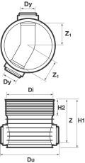 Wavin Tegra 200 x 600 mm TP1-brønd, X-Stream, 30 gr. genneml