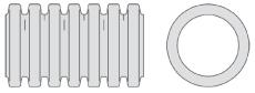 Aquadrain 464/395 x 6000 mm SN8 topslidset rør m/mf. u/gummi