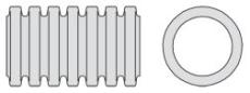 Aquatub 464/395 x 6000 mm SN8 uslidset rør m/muffe u/gummiri