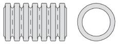 Aquadrain 293/247 x 6000 mm SN8 fuldslidset rør med muffe