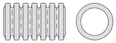 Aquadrain 464/395 x 6000 mm SN8 fuldslidset rør med muffe