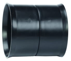 Siroplast 118/99 mm dobbeltmuffe, uden gummiringe