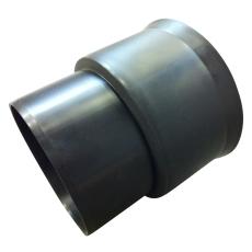 Siroplast 118 x 110 mm overgang til glat muffe, uden gummiri