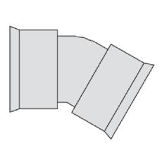 Aquadrain/Aquatub 464/395 mm 30 gr. bøjning, med gummiringe