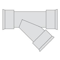 Hegler 175 x 175 mm 45 gr. grenrør, uden gummiringe
