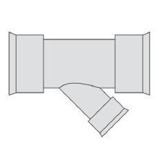 Hegler 293 x 175 mm 45 gr. grenrør, uden gummiringe