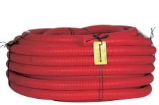 Hekaplast 75/63 mm PEH-kabelrør m/muffe, korr./glat, 50 m, r