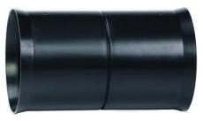 Hekaplast 75 mm PEH-samlemuffe til korrugeret kabelrør, sort