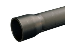Wavin 32/26 mm PEH-kabelrør med muffe, glat/glat, 6 m, sort