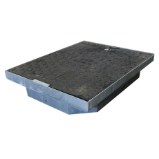 Melbye FF6045 610 x 445 mm dæksel, 12,5 t, støbejern, kabelb