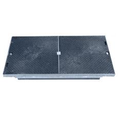 Melbye FF9045 915 x 445 mm dæksel, 1,5 t, PEH, kabelbrønd
