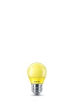 LED Krone Kulørt 3,1W, E27, P45 gul (A)