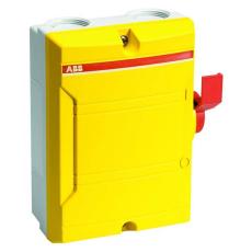 Sikkerhedsafbryder 16A 3P+hjælpekontakt BWS 316Y TPN rød/gul