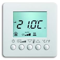 KNX Rumtermostat med display hvid