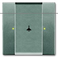 KNX Betjeningselement 1/2-tryk meteor/metalgrå