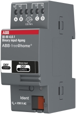 Free-Home Inputmodul m/4 indgange 10-230VAC/DC DIN 2M BI-M-4