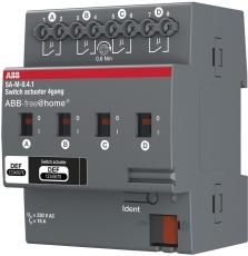Free-Home Aktuator relæ 4x16A (AC1) DIN 4M SA-M-0.4.1