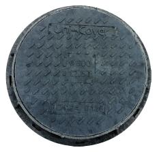 Uni-Cover 600 mm karm/dæksel, rund, fast, 1,5 t, plast