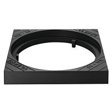 Ulefos 600 x 100 mm karm uden pakning, firkantet, fast SG UK