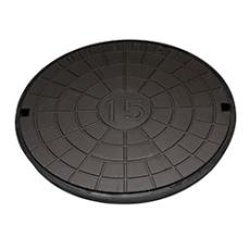 Ulefos 600 mm dæksel med UP-pakning, uden lås, 25 t, GG U60B