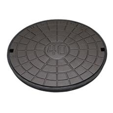 Ulefos 600 mm dæksel med UP-pakning og fjederlås, 40 t, SG U