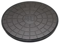 Ulefos 600 mm dæksel med UP-pakning, uden lås, 40 t, SG UN60