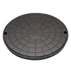 Ulefos 600 mm dæksel med UP-pakning, uden lås, 40 t, SG U60A