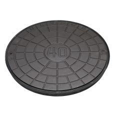 Ulefos 600 mm dæksel m/UP-pakning og fjederlås, 40 t, SG UN6