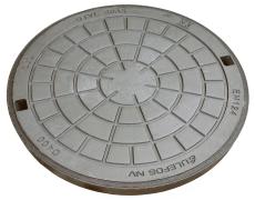 Ulefos 600 mm dæksel m/påstøbt pakn./fjederlås, 40 t, SG U60