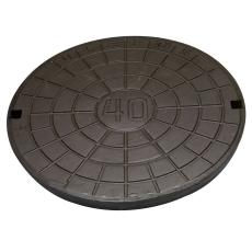 Ulefos 600 mm dæksel m/påstøbt pakn./fjederlås, 40 t, SG UN6