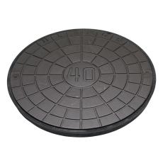 Ulefos 800 mm dæksel med UP-pakning, uden lås, 40 t, SG UN80