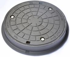 Ulefos 600 x 100 mm karm med boltet dæksel, rund, fast, 40 t