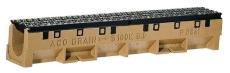 ACO S100K 1000 mm rende nr. 10 m/støbejernsrist u/udløb, 90