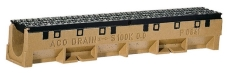 ACO S100K 1000 mm rende nr. 14 m/støbejernsrist u/udløb, 90