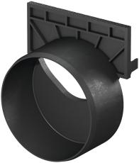 ACO SELF/HEXALINE endevæg m/110 mm studs t/SELF/HEXALINE ren
