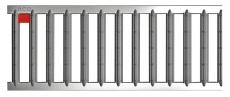 ACO SELF/HEXALINE 1000 mm galvaniseret spalterist, 1,5 t