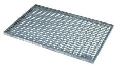 ACO Vario 1000 x 500 mm fodskraberist, galvaniseret