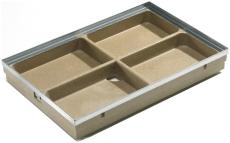ACO Vario 1000 x 500 x 80 mm underdel til fodskraberist