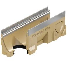 ACO V100S 1000 mm rende nr. 0.0 m/galv. karm/udløb, uden ris