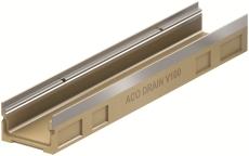 ACO V100S 1000 x 80 mm rende med galvaniseret karm, u/udløb/