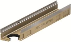 ACO V100S 1000 x 80 mm rende med galvaniseret karm/udløb, u/