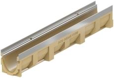 ACO V100S 1000 mm rende nr. 10 m/rustfri karm, uden udløb/ri