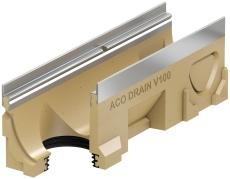 ACO V100S 1000 mm rende 10.0.2 med rustfri karm/udløb, uden