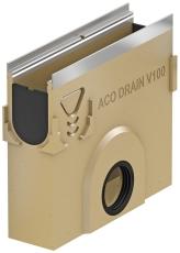 ACO V100S 500 x 450 x 110 mm sandfang med rustfri karm, u/ri