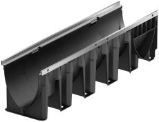 ACO V200PS 1000 x 265 mm rende u/rist/studs, m/galvaniseret