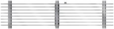 ACO V100 1000 mm galvaniseret slidsrist, 1,5 t