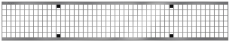 ACO V100 1000 mm galvaniseret maskerist, 40 t