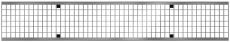 ACO V150 1000 mm galvaniseret maskerist, 25 t